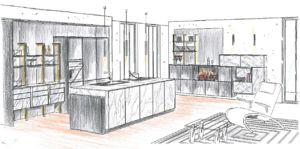 küchenplanung-skizze